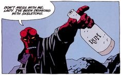 A Treasury of Mike Mignola Masterpieces Official website here Comic Book Artists, Comic Books Art, Comic Art, Hellboy Tattoo, Liz Sherman, Mike Mignola Art, Dont Mess With Me, Pulp, Dark Horse