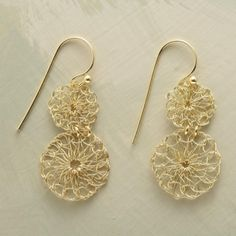 lacemaker's earrings. $65.00 by sofi.hazan
