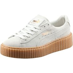 Puma PUMA BY RIHANNA WOMEN'S CREEPER (465 BRL) ❤ liked on Polyvore featuring shoes, sneakers, puma, trainers, chaussures, punk shoes, platform trainers, suede shoes, lace up shoes and creeper platform shoes