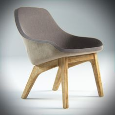 3ds morph lounge chair pouf - Morph Lounge Chair and Pouf... by Freakaz