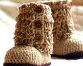 Sapatinhos Para Bebê - Life Baby: Botinha em Crochê