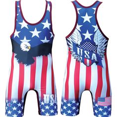 Cliff Keen USA Sublimated Wrestling Singlet