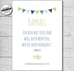 """Other – Taufspruch – blessing wish """"RAPHAEL"""" – a unique product by beiwerk on DaWanda Source by"""