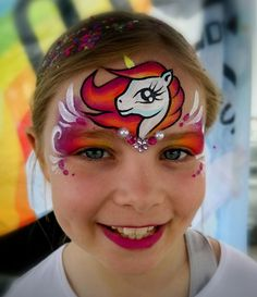 Face Painting Unicorn, Face Painting Flowers, Unicorn Face, Face Painting Designs, Famous Last Words, Animal Faces, Ikon, Face And Body, My Little Pony