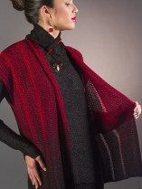 Machine Knitting Pattern An asymmetrical neckline sleeveless pullover with drop stitch detailing. This finished garment combines the softness and drape of Bambu fiber with the stability and lightn…