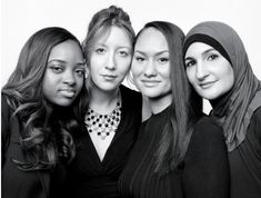 The organizers of the Women's March, from left to right: Tamika D Mallory (b. 1980), Bob Bland (b. 1982), Carmen Perez (b. 1977) and Linda Sarsour (b. 1980).  Photo credit: Jody Rogac