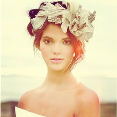 Simply beautiful! Gorgeous model with romantic hairpiece. #hair #pinterest #beauty