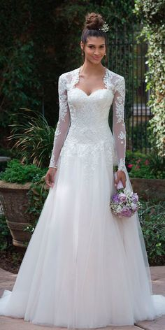 Hottest Trend 2018: 21 Wedding Jackets ❤ wedding jackets a line lace sweetheart neckline with bolero long sleeves bolero justin alexander ❤ See more: http://www.weddingforward.com/wedding-jackets/ #weddingforward #wedding #bride #bridalgown #bridaljackets