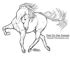 Free to Use Lineart Weird Dance by on DeviantArt Pencil Drawings Of Animals, Horse Drawings, Art Drawings, Cartoon Sketches, Drawing Sketches, Horse Stencil, Horse Canvas Painting, Anatomy Sculpture, Horse Sketch