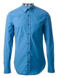 """NEW BURBERRY MENS SHIRT """"Henry""""  LONG SLEEVES STRETCH-COTTON SLIM FIT #Burberry"""