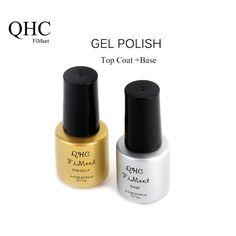QHC FiMeet Top Coat+Base Coat Kit Gel Nail Polish Gorgeous Colors UV Gel Nail Polish Long-lastting up to 30 Days
