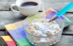 Finally - no more weenie oatmeal!! This trick gives you thicker oats!!  I'm gonna try it tonight for breakfast in the AM.  From Chocolate-Covered Katie, my new hero!!  Oatmeal on Steriods!!!