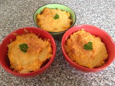 Individual Shepherds Pie made with Red Lentils. Sooooo Good!