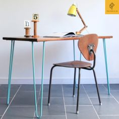 Leonie Minimalist Study Desk | Table with Tiffany Hair Pin LegsMeasurment: 120cm (L) x 60cm (W) x 75cm (H)Limited ProductionPre-order to avoid disappointment Minimalist, urban industrial style table hand crafted with hairpin legs Give that raw organic looks that can add style to your home decor