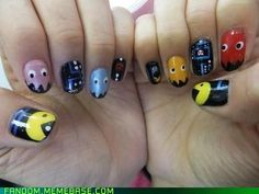 31 Images Of Gorgeously Geeky Nail Art. I'm lovi g the first dr who nails super awesome