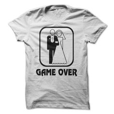 Wedding Symbol Game Over T Shirts, Hoodies, Sweatshirts. CHECK PRICE ==► https://www.sunfrog.com/Funny/Wedding-Symbol-Game-Over-Shirt.html?41382