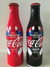 Coca Cola Aluminium Bottle Set from FRANCE**UEFA EURO 2016 SOCCER**FREE SHIPPING