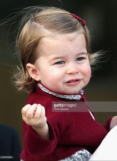 Princess Charlotte... looking a lot like Queen Elizabeth!                                                                                                                                                                                 More