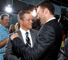 """Matt Damon and Ben Affleck at The Bourne Ultimatum Premiere (7/25/07) :: Damon once called Affleck his """"hetero lifemate"""" in an interview with GQ magazine"""