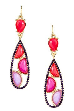 Mosaic Open Teardrop Earrings by Olivia Welles on @HauteLook