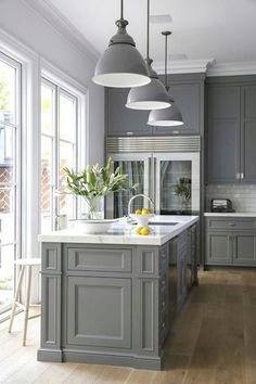 If you had an unlimited budget to renovate your kitchen, what color palette would you choose?  Would you select a gray like this one?  Ted Sharpenter eXp Realty 773-491-4494 http://www.chicagorealestate4sale.com/