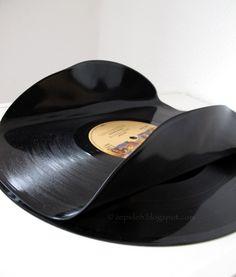 Werkeltagebuch: Upcycling - Dienstag Schallplatten formen