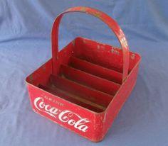 Original 1950 s Metal Coca Cola Stadium Bottle Carrier  f5b938ecc7e2
