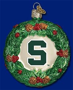 Old World Christmas Michigan State Wreath Christmas Ornament -- You can find out more details at the link of the image.