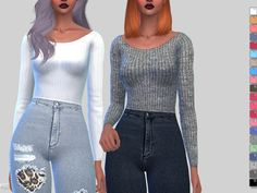 Winter Soft Ribbed Sweater by Pinkzombiecupcakes at TSR • Sims 4 Updates