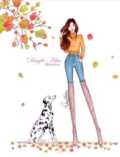 Hello Fallby @dimple_asha_illustration  Be Inspirational ❥ Mz. Manerz: Being well dressed is a beautiful form of confidence, happiness & politeness