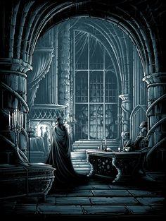 Dan Mumford's New Art Show Has Several Jaw Dropping Horror Pieces Dracula, High Fantasy, Fantasy Art, Dan Mumford, Cultura Nerd, Art Of Dan, Memes Arte, Dark Castle, The Notebook