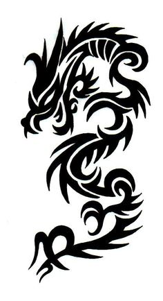 Tribal dragon tattoo by Boosted More