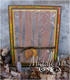 Birch Trees Metal Embossed Card by ScrapNGrow - Cards and Paper Crafts at Splitcoaststampers