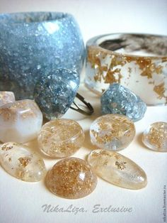FurnityurMolds: BIG Tutorial. Jewelries with dandelion, glass and seashells. Epoxy resin and molds. DIY