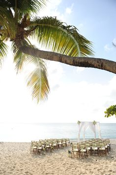 Grand Cayman beach ceremony set up at the Caribbean Club