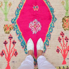 vintage moroccan rug from pink rug co. https://www.etsy