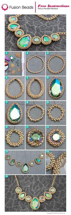 Beaded Paradise Necklace.Craft ideas 5475 - LC.Pandahall.com