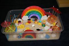 Live and play: Weather sensory box.