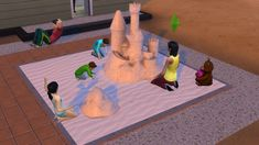 Sims 4 CC's - The Best: Sandbox kit with functional objects by necrodogmts...