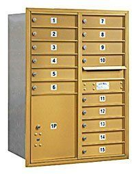 4C Horizontal Mailbox (Includes Master Commercial Lock) - 11 Door High Unit (41 Inches) - Double Column - 15 MB1 Doors / 1 PL5 - Gold - Rear Loading - Private Access by Salsbury Industries. $832.77. 4C Horizontal Mailbox (Includes Master Commercial Lock) - 11 Door High Unit (41 Inches) - Double Column - 15 MB1 Doors / 1 PL5 - Gold - Rear Loading - Private Access - Salsbury Industries - 820996413406. Save 26% Off!