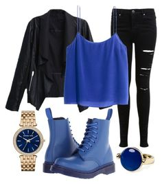 """""""Untitled #1065"""" by pinkunicorn007 ❤ liked on Polyvore featuring Miss Selfridge, Michael Kors, H&M, Dr. Martens and Aqua"""