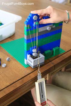 LEGO Pulleys Engineering Challenge for Kids