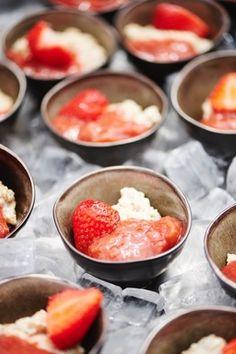 Quinoa façon riz au lait, compote fraises-rhubarbe
