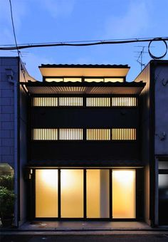 Love the facade of this home. The interior is wild! Like an origami house! I feel like I would fall over if I tried o live with so many angles but it is beautiful. In Kyoto by ALPHAville.
