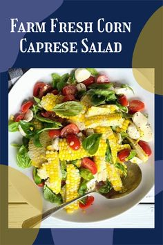 Corn caprese salad is the perfect starter for a salad explosion! Caprese salad can become a dinner with some of my family friendly ideas! #cornsalad #capresesalad Good Healthy Recipes, Easy Recipes, Dinner Recipes, Asian Cabbage Salad, Tomato And Onion Salad, Different Salads, Easy Salads, Caprese Salad, Quick Easy Meals