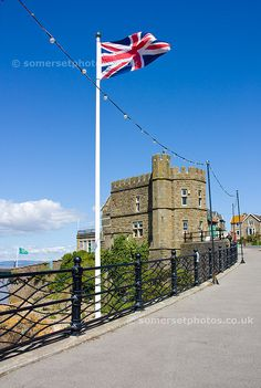 clevedon somerset uk | Clevedon Toll House and Union Jack - Clevedon somerset england ...