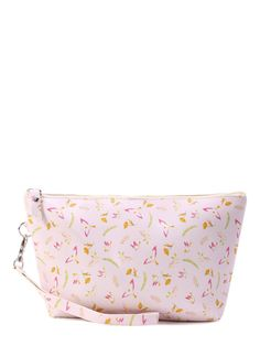 Bird Print Accessory Pouch With Wristlet