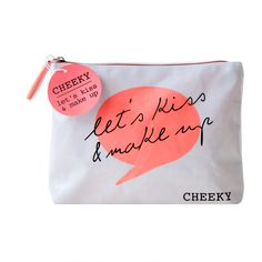 Cheeky 'Let's Kiss & Make Up' Cosmetic Bag - Feelunique