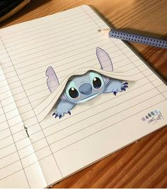 Stitch Dessin ✏ - Real Tutorial and Ideas Easy Disney Drawings, Cool Art Drawings, Disney Sketches, Pencil Art Drawings, Art Drawings Sketches, Kawaii Drawings, Cartoon Drawings, Drawing Disney, Easy Drawings