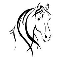 Horse Head Outline | Horses Stickers | Car Decals | Wall Decals | Show love for horses with this Horse Head Outline sticker or buy as a gift for a friend!